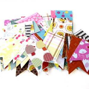 Small Pennant Flag Tags Assorted De..