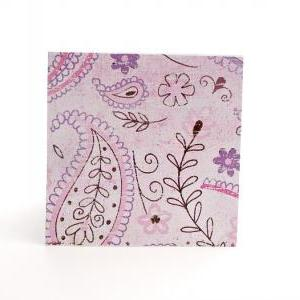 Blank Handmade Mini Cards in Pink P..