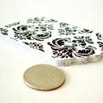 Black and white damask gift tags 2 ..