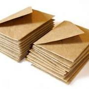 Mini kraft envelopes Miniature envelopes Handmade mini envelopes Square mini envelopes Set of 8