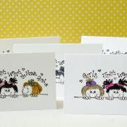 Girl fun handmade mini note cards blank mini cards girls just want to have fun Set of 8