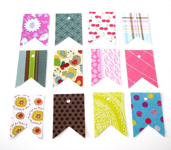 Small Pennant Flag Tags Assorted Designs 30 Count Any occasion Embellishment Gift wrapping
