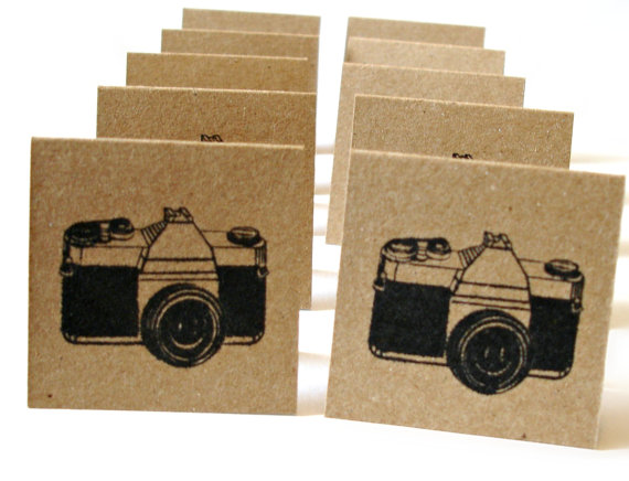Vintage Camera Handmade Mini Note Cards Set of 10