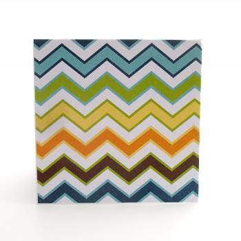 Blank Chevron Mini Note Cards Boys Theme Chevron Handmade Mini Cards for any occasion Set of 8