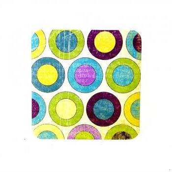 Colorful Large Polka Dots Handmade Mini Cards Blank Mini Note Cards Set of 6